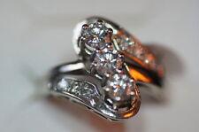 Gute Echte Diamanten-Ringe aus Weißgold mit Brilliantschliff für Damen