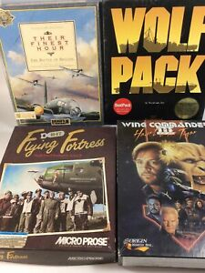 Lot Of 4 Vintage Big Box PC Games COMPLETE