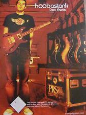 Hoobastank, Dan Estrin, Prs Guitars, Full Page Promotional Print Ad
