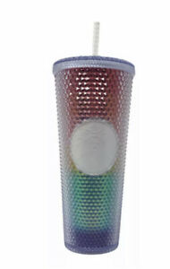 STARBUCKS - Rainbow Pride 2021 Bling Studded Iridescent Cold Cup 24oz /710mls