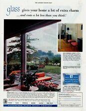1953 Original Vintage Pittsburgh Plate Glass Magazine Ad