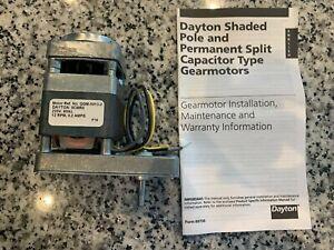 NEW - Dayton - 9CMR6 12 RPM 50 to 60 Hz  Gearmotor - FREE SHIPPING