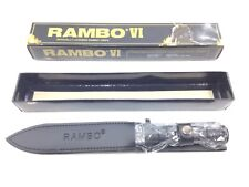 """RAMBO First Blood PART VI Double Edged Knife 12"""" W/ Sheath By Master Cutlery New"""