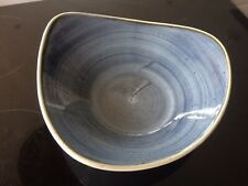 Churchill 23.5cm Stonecast SBBSTRB91 Blueberry Triangle bowl