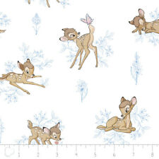 Fat Quarter Disney Bambi Toile 100% Cotton Quilting Fabric Blue