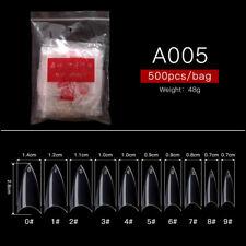 500pcs False Nails Half French Clear Nail Art Tips Acrylic UV Gel Manicure Tips