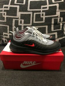 Size 10 US Air Max Axis Wolf Grey Total Crimson