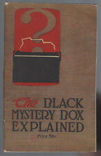 THE BLACK MYSTERY BOX EXPLAINED; STORAGE BATTERIES vg digest-style softcover