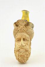 Tabac pipe ancienne sculptée écume de mer tête sultan antique carved pipe