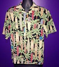 MAUI MAUI Surf COMPANY Men's Surf Board Hawaiian Shirt Button Up Shirt Size M