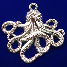 K184 Argent mer océan Octopus Pearl Bead Cage Médaillon Collier Pendentif