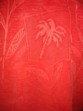 JAMAICA JAXX Large Hawaiian Aloha Shirt Floral Red Textured Hibiscus 100% Silk