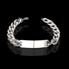 Men's Fashion Gold/Silver Stainless Steel Link Chain Bracelet Wristband Bangle