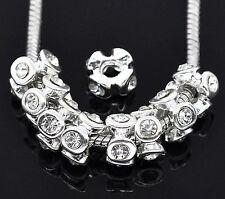 2 Stück European Beads Perlen Strass Zwischenperle Innen 4,2mm passend für alle