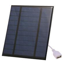 Solar Power Bank Panel phone Charger Portable Night Light USB Hiking Travel