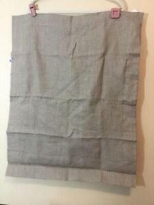 2 Crate And Barrel Standard  Pillow Cases Sham Linen Sham Wood  NWOT