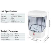 1* 700ml Bath Auto Sensor Soap Dispenser Touchless Wall Mounted Liquid Soap