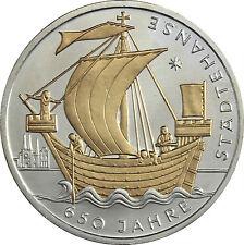 # 314; Deutschland 10 Euro 2006 J-650 Jahre Städtehanse, teilvergoldet