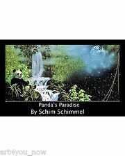 SCHIM SCHIMMEL Panda's Paradise POSTER PRINT 36X24 ANIMAL SURREALISM never frame