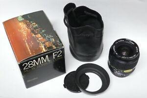 Minolta MC W Rokkor 2,0 / 28 mm  Objektiv für analoge Minolta Modelle in ovp