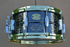 LUDWIG USA LIMITED EDITION 6.5X14 ENGRAVED BLACK BEAUTY SNARE DRUM! LOT #A830