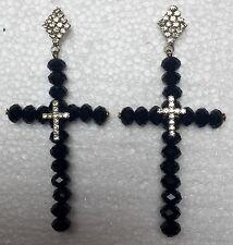 Cristal Strass Style Vintage Lustre Long Drop Dangle Earrings