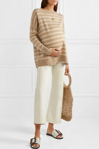 Hatch Maternity Women's THE CLEMENTINE SWEATER Beige 100% Merino Wool $278 NEW