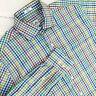 Peter Millar Mens Sz Medium Button Down Long Sleeve Dress Shirt Multicolor Plaid