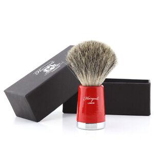 Super Badger Shaving Brush Handmade Bristle and Brass Handle Red Taper HARYALI