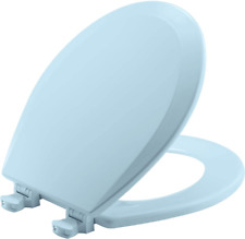 BEMIS 500EC 464 Toilet Seat with Easy Clean & Change Hinges, ROUND, Durable E...