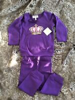 JUICY COUTURE Designer Girl's Purple Outfit Set 18-24 months