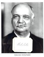 Charles Curtis Letter Autograph Vice President Senator Kansas Herbert Hoover
