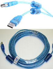 25ft long USB2.0 A Male~Female Extension Camera/Webcam/Printer Cable/Cord {BLUE