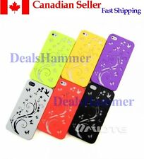 Fashion Plant hollow out Case Cover Skin for Apple iPhone 4 4G 4S ORANGE