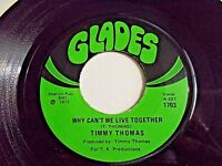 Timmy Thomas Why Cant We Live Together / Funky Me 45 1972 Glades Vinyl Record