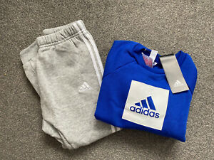 BOYS ADIDAS FLEECE TRACKSUIT / JOGGER SET - SIZE 3-4 YEARS - BRAND NEW WITH TAGS