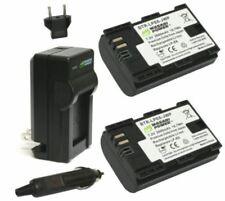 Wasabi 2-PC 2600mAh Battery with Charger For Canon LP-E6N LP-E6