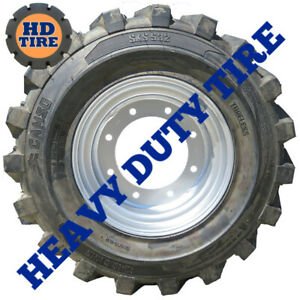 (4) 12-16.5 NEW CAMSO 532 FOAM FILL ON 8 HOLE WHEEL  12x16.5,12165 TYRE,