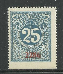 U.S. Revenue Telegraph stamp scott 15t54 - 25 cent Postal Tel. Co. - mnh - #11