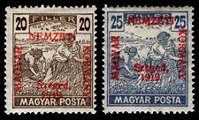 """1919 HUNGARY #11N34-35 SZEGED """"MAGYAR POSTA"""" - OGH -VF - CV$61.75 (ESP#9866)"""