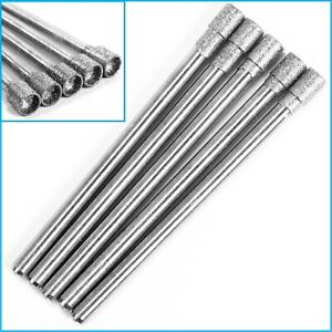 5pcs 3mm Cylinder Headed Diamond Mount Tipped Rotary Grinding Drill Bit 2.35mm