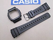 Genuine Casio G-Shock GW-5600J watch band & bezel set black resin rubber