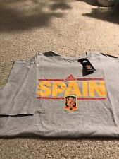 Spain Espana National Soccer Team T-Shirt! Adidas! Large! Jersey Nwt Real Madrid