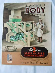 @Robert Boby Three Screen Grain & Seed Cleaning Machines Illustrated Brochure@