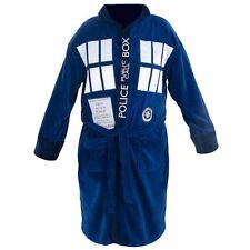 Doctor Who TARDIS Hooded Blue Cotton - Medium Bath Robe
