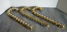 Vintage Silver & Gold Candy Cane Plastic Balls Wrapped in Tinsel 12 Inches