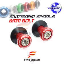 Red CNC Swingarm Spools 8MM 2pcs For Suzuki GSX-S750 15-16 15 16