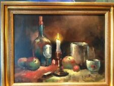 Handsignierte Malerei auf Leinwand von 1900-1949