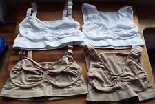 Vercella Vita Med Control 2 Woven Lace & 2 Plain Bras Pack 4 white & nude medium