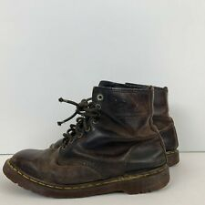 Dr Martens Made In England 1490 Ripple Sole Leather Boots Air Wair Brown Size 10